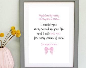 Angel Baby Stillborn Memorial Print