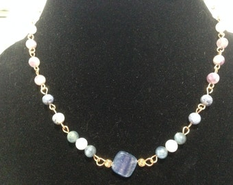 Weight Loss Necklace * Appetite suppressant * Soothing * Calming * Genuine Crystals * Healing Gemstones * Beaded necklace * Gold