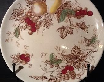 4 Nasco, Fruit Arbor, Vintage Dinner Plates