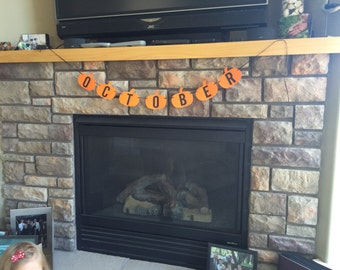 October pumpkin banner - October classroom decor - halloween banner - halloween decoration - paper pumpkins - halloween season decor