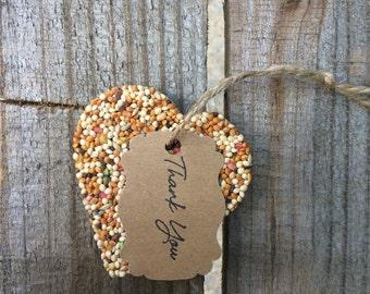 Ready to Ship -- 50 Heart Bird Seed Favors