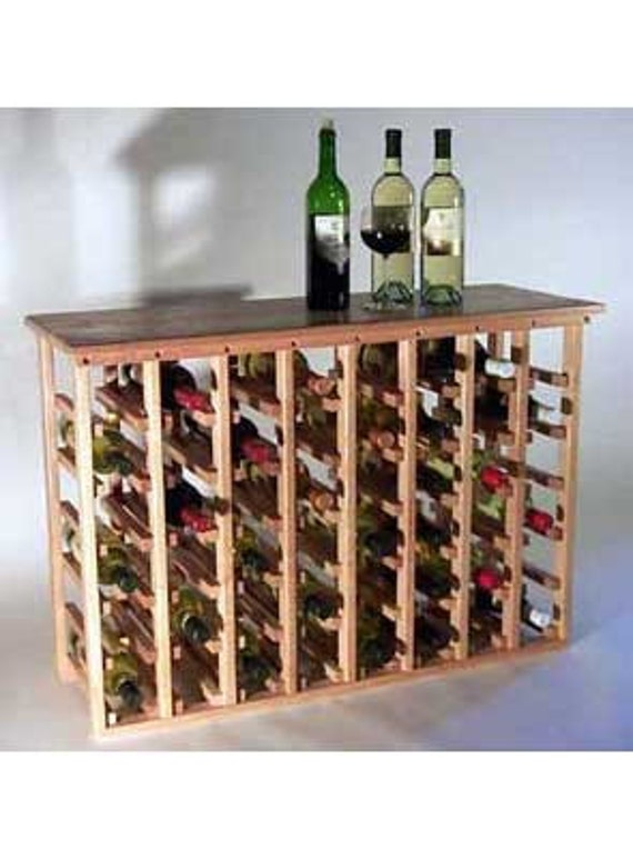 48 bottle wine rack with tabletop by thewinerackcompany on for Tabletop wine rack plans