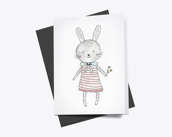 Little Bunny Greetings Card