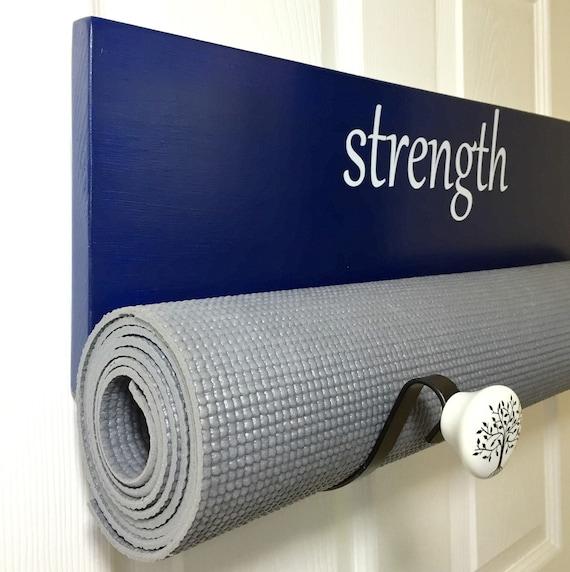 Royal Blue Yoga Mat Rack Handmade Yoga Mat Holder By YogaWares