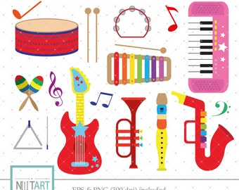 Toy Clipart, Music clipart,  instruments clipart,  ,Vector graphics,  Digital Images