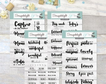 Scrapdelight Clear Stamps - This Life Documented Set
