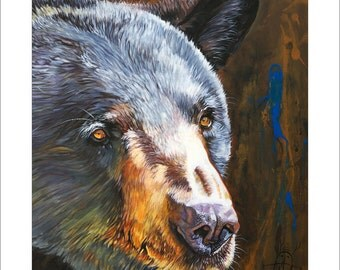 8x10 Print - Black Bear the Messenger © J W Baker