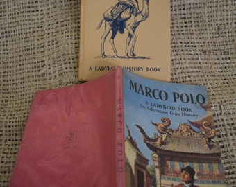 Marco Polo. A Vintage Ladybird Book. An adventure from History. 1st Edition. Dust Jacket. Unclipped. Series 561