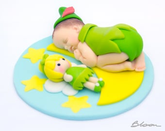 Peter Pan Cake Topper | Baby Shower | Baby Fondant | Cake Topper | Baptism | Christening |