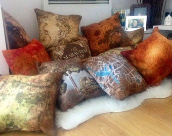 Fantasy Map Cushions: Skyrim, Lord of the Rings, Game of Thrones, Zelda, Star Wars, Harry Potter Pillows & More!