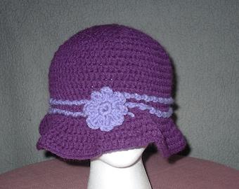 crocheted winter hat