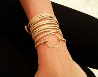Suede wrap bracelet,Wrist wrap,Suede bracelet,Karma Bracelet,Triple Wrap Bracelet,Suede Bohemian Wrap,Boho Bracelet,Ibiza Jewelry