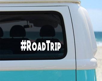 Hashtag Road Trip Vinyl Window Decal - Car Sticker - Car Decal