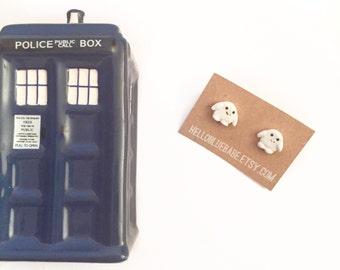 Adipose Earrings, Doctor Who, Doctor Who Earrings, Geeky Earrings