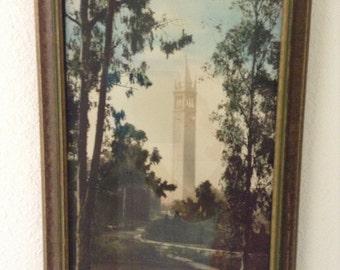 U.C. Berkeley Genuine Oil Colored Photograph