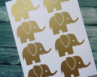 Baby Elephant Wall Decal - Vinyl Decal Sticker, Elephant Wall Sticker, Baby Elephant Nursery, Nursery Decal Sticker, Elephant Wall Decor