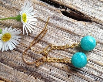 Amazonite Gemstone Drop Earrings