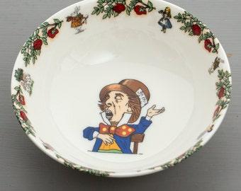 Alice In Wonderland Cereal Bowl - Mad Hatter