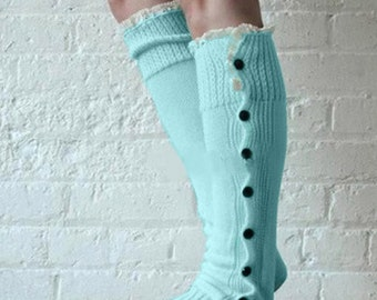Mint cozy lux leg warmer, button up, fall layers, lounge, yoga, dancer, bestselling accessory, Pink Arrows Boutique