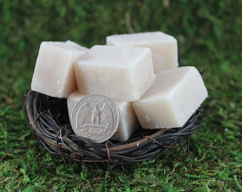 Vanilla Sugar Scrub Squares 4oz - Exfoliating Sugar Scrub Cubes make Great Gifts for Her or Party Favors - Wholesale Available