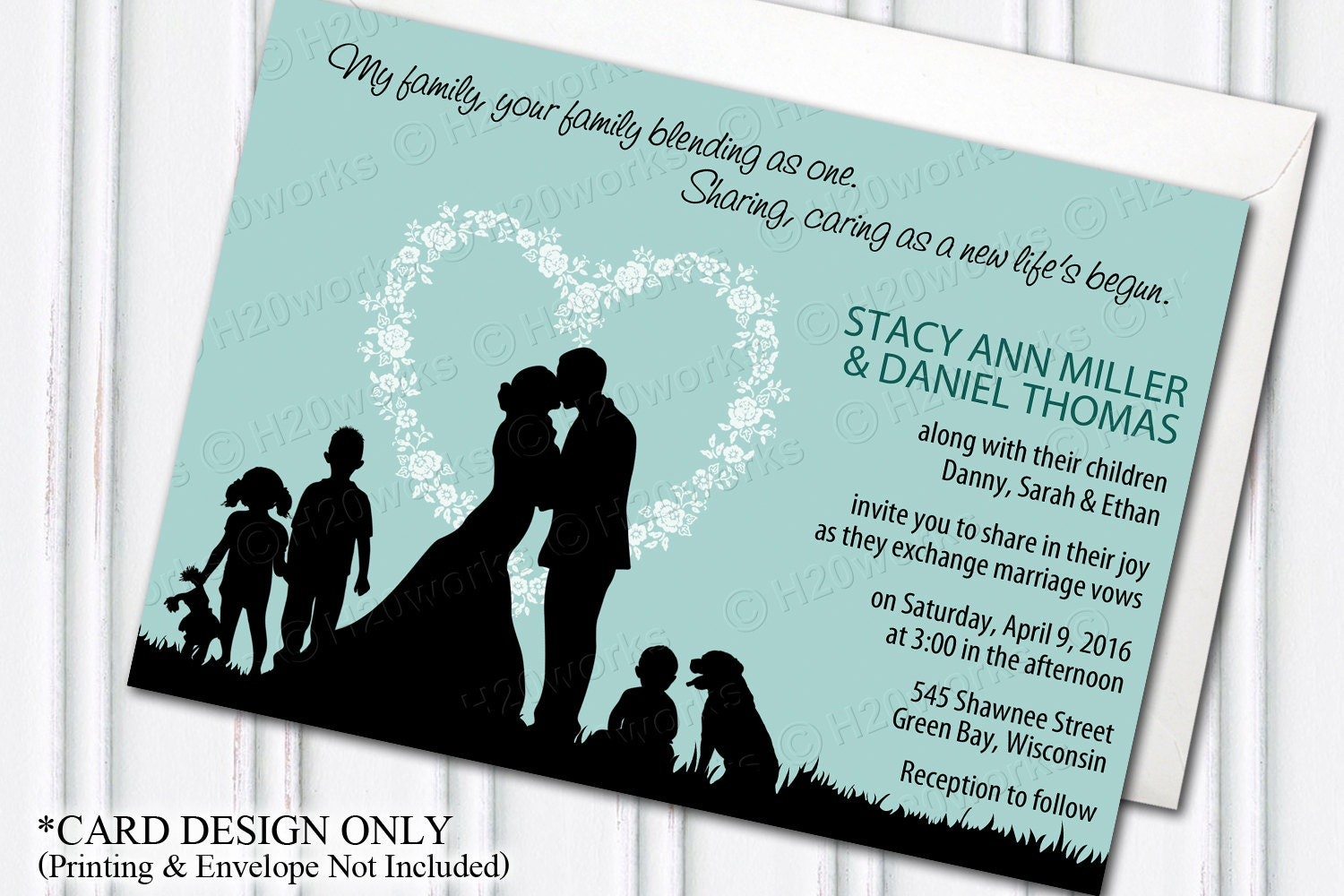Unique Wedding Invitations For Blended Families Wedding Ideas