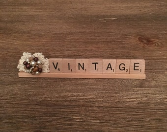 Scrabble collectable for your table top or desk