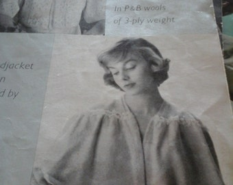 vintage bed jacket and cape knitting pattern