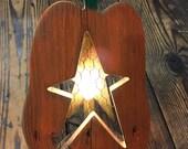 Pumpkin Star Candle