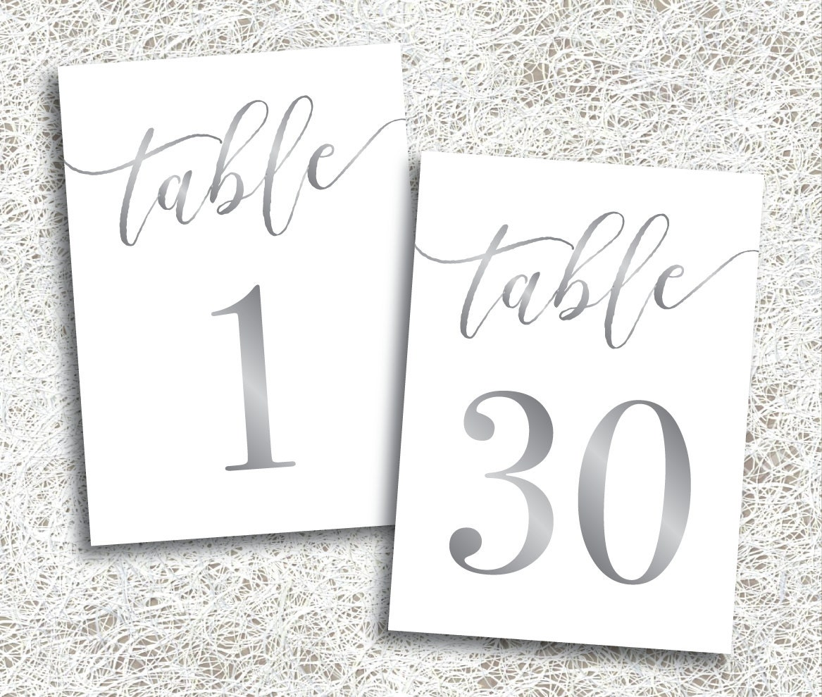 Zany image intended for printable table number