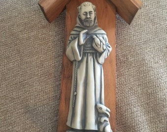 St. Francis of Assisi Wall Figurine - Patron of Nature