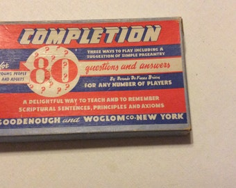 Vintage Completion Game - 1946