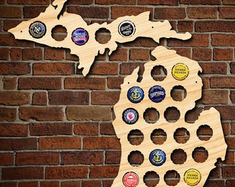 Beer Cap Map Of Usa Engravable Beautiful Birch Wood Usa