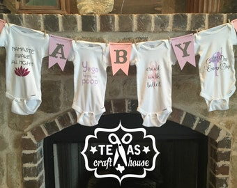 Custom Baby Shower Onesie Banner Kit