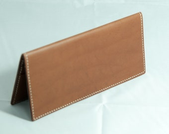 Hand-Stitched Genuine Leather Long Wallet