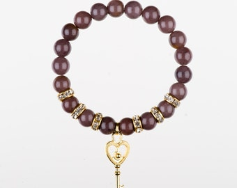 Purple Aventurine KEY Bracelet