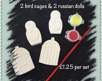 Birdcage & Russian Doll paint kit