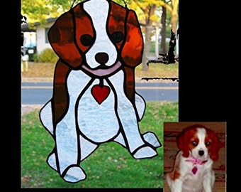 Customized Stained Glass Pet Suncather