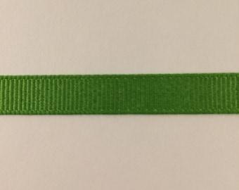 3/8 inch apple green grosgrain ribbon offray
