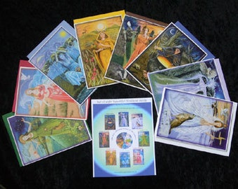 Sets of 8 greeting cards