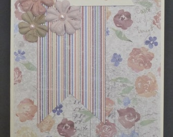 Muted Floral Thankyou Card 1502