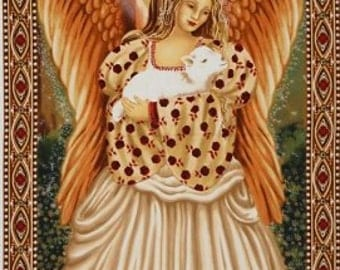 Golden Angel Panel  Michael Miller  Cotton Quilt Fabric  BFab