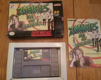 Zombies Ate My Neighbors in Box For Super Nintendo SNES