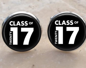 Class of 2017 Cufflink set, Back to school gift- 2017 Graduation Cuff Links, Graduation Gift for men, boys,,men
