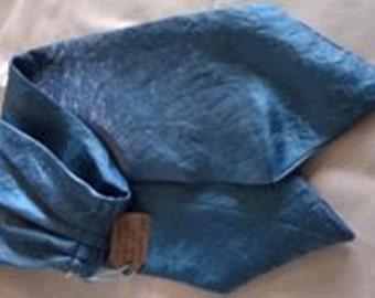Handmade Silky Teal Cravat