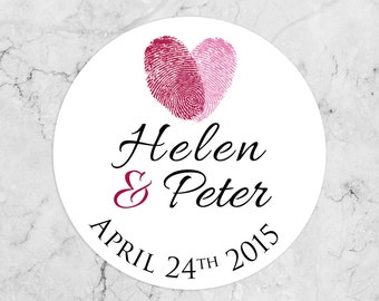 Personalised Wedding Envelope Seals/Favors/Stickers