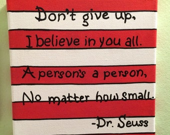 Dr. Seuss Quote on Stripes