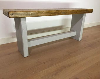 Reclaimed Rustic solid pine bench seat