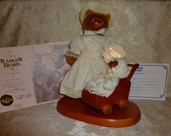 Raikes Wooden Bears Exclusive Design 1990 Mother's Day Complete Set New in Original Box With Tags Collectible