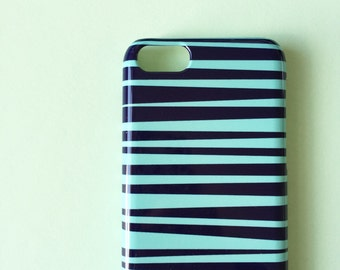 Blue and green stripes phone case / Stripy iPhone 7 case / iPhone 6 / iPhone 5/5S, Se / Samsung Galaxy S7 / Galaxy S6