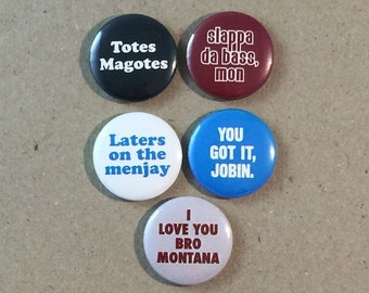 I Love You Man Movie Quotes Fan Art Jason Segel Paul Rudd 5 - 1 Inches Pinback Button Pin Set